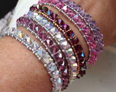 PATTERN RAW Wrap bracelet Peanuts Farfalle por BaublesbyBalonis