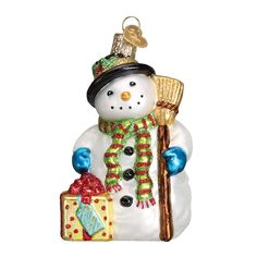 The Gleeful Snowman is here to brighten your day! Visit your favorite local Old World Christmas retailer to bring this bundle of glee home to your Christmas tree! #gleefulsnowman #mondaymotivation #snowman #glassornaments #oldworldchristmas Gleeful Snowman (Item #24164) NEW! BEST SELLER!