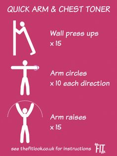 Quick and easy upper body workout for women - standing arm and chest workout you can do anywhere. #armworkouts #upperbodyworkout #workoutathome #fitnessforwomen