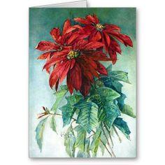 Hibiscus gnral courtigis illustrations flowers rhs prints art watercolor christmas cards pointsettias watercolor fine art greeting card by weepingcherrylane ccuart Images
