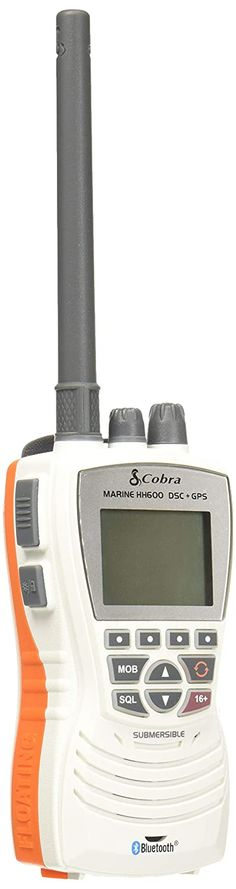 Cobra COB-MR HH600W FLT GPS BT MRHH600 - Marine Radio, Handheld, Rugged, Floating, VHF, Bluetooth, GPS, Flashlight/Strobe, 6 Watt, White >>> Click image to review more details. (This is an affiliate link)