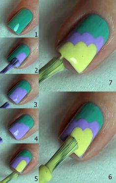 Credit: Manicure Tutorial 2 - Three steps Nail Design