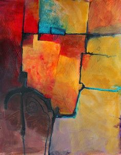 "CAROL NELSON FINE ART BLOG: ""Color Study 2"" contemporary abstract acrylic painting © Carol Nelson Fine Art"