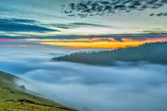 """East Bay Hills in Fog at Sunset"" by Marc Crumpler"