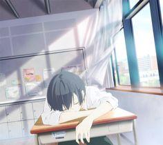 How can someone be so beautiful sleeping? Manga Anime, Anime Ai, All Anime, Anime Guys, Anime Stuff, Kokoro Ga Sakebitagatterunda, Ao Haru, Otaku, Ciel Phantomhive