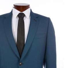 Paul Smith Men's Petrol Blue Wool And Mohair-Blend Soho Travel Suit