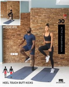 Raise your heart rate, burn fat and break a huge sweat in this awesome Cardio Workout - Beginner modifications included! Fitness Workouts, Full Body Hiit Workout, Cardio Workout At Home, Gym Workout Videos, Gym Workout For Beginners, Fitness Workout For Women, Sport Fitness, Butt Workout, At Home Workouts