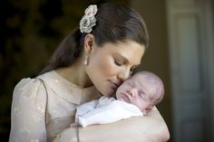 Princess Estelle of Sweden with her mother Crown Princess Victoria