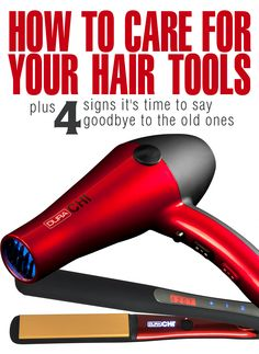 How To Care For Your Hair Tools plus 4 Signs It's Time To Toss 'Em #CHIHairTip