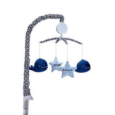 Wendy Bellissimo™ Mix & Match Whale and Stars Musical Mobile in Navy/Light Blue
