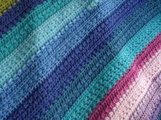 Pastel Crochet Baby Blanket, Lap Afghan, Baby Shower Gift, Gift Baby Blanket, Travel Baby Blanket, Stroller Blanket, Crib Blanket, Handmade