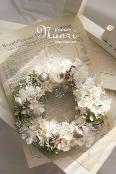 ༺ღ Wedding Wreaths, Wedding Flowers, Wedding Decorations, Dried Flower Wreaths, Dried Flowers, Diy Wreath, Door Wreaths, Deco Floral, How To Preserve Flowers