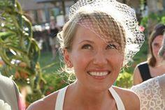 Birdcage Veil Placement :  wedding veil 13 13
