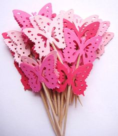 OK, these aren't edible, but they'd sure look pretty stuck into any pink food.