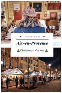 If you happen to be in Provence in December, do not miss the Aix-en-Provence Christmas Market. Aix, a gorgeous town originally founded by the Romans . Christmas Markets, Christmas Travel, Holiday Travel, Christmas Traditions, French Christmas Tree, Christmas And New Year, Aix En Provence, Provence France, France Winter