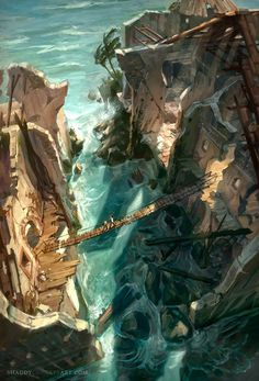 Uncharted Drake's Fortune concept art  I love the background art for these games.
