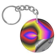 Trendy modern abstract pattern acrylic key chain
