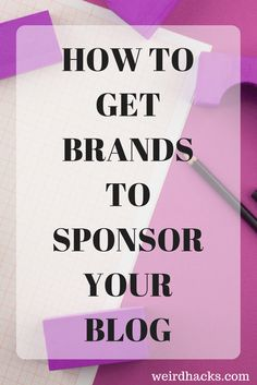 Are you thinking about sponsored posts? How do you get started working with brands? How do you get them to notice you? Click to find out now or repin to read later!