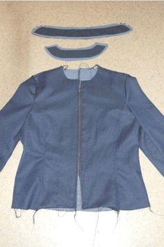 coudre une veste en denim - sew a denim jacket