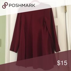 Long-sleeve Dress Cranberry colored, long sleeve, size 8 US (UK 12) Primark dress Primark Dresses Long Sleeve