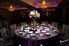 Like the dark purple with purple up lighting.