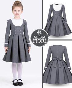 Alisia Fiori - Elegant dress for girls. Festive dress for girls. Dress for teen girl. Girls Dresses Sewing, Frocks For Girls, Dresses Kids Girl, Kids Outfits Girls, Girl Outfits, Girls Fashion Clothes, Little Girl Fashion, Fashion Kids, Kids Frocks Design