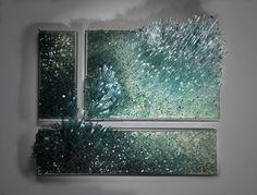Дыхание ветра, всплеск воды. Картины из стекла Шайны Лейб - Ярмарка Мастеров - ручная работа, handmade