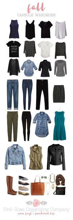 Fall Capsule Wardrobe | Pink Rose Organizing Company #wardrobebasicsfall2015