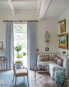 "2,725 Likes, 24 Comments - Veranda Magazine (@verandamag) on Instagram: ""The palette of the living room is simply sublime. | Photo: James Merrell; Design:…"""