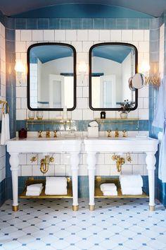 Hotel Emma - Bathroom. Interior Design by Roman and Williams.