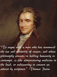 Would that Thomas Paine were around today. Methinks the NRA could use some common sense.