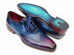 Blue & Purple Wingtip Oxfords