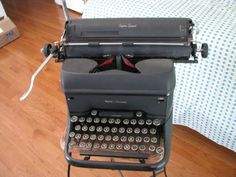 L C Smith & Corona Super Speed Typewriter Get this antique baby and type grandma a letter. hurry before the post office closes! Post Office Closed, Super Speed, Typewriter, Letter, Antiques, Baby, Corona, Antiquities, Antique