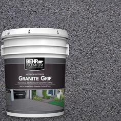 Galaxy Quartz Decorative Flat Interior/Exterior Concrete Floor - The Home Depot Bring a stunning and new look to your floor with this durable BEHR Premium Galaxy Quartz Decorative Concrete Floor Coating. Concrete Floor Coatings, Concrete Bricks, Concrete Resurfacing, Patio Resurfacing Ideas, Concrete Patios, Concrete Walkway, Flat Interior, Interior Exterior, Exterior Paint