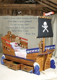 PETER PAN I have a place where dreams are born.... Never Never Land Vinyl Decal Wall Art on Etsy, $29.95
