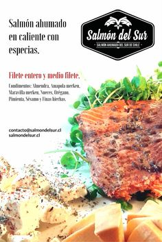 Salmón del Sur. Salmón ahumado en caliente con especias. salmondelsur.cl Chile, Salmon, Steak, Beef, Food, Smoked Salmon, Spice, Meat, Eten