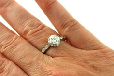 Platinum Moissanite Diamond Halo Engagement Ring Cushion Cut Conflict Free Forever Brilliant Moissanite Ring. $1,710.00, via Etsy.