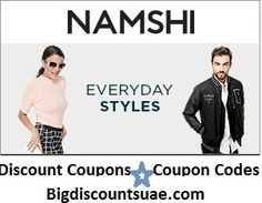 Save more with Namshi coupons, discount deals, offers and discount code for Namshi.com at Bigdiscountsuse. Namshi.com is one of the leading online stores in the Middle-East for fashion accessories and footwear. Latest Voucher/discount coupons for Namshi Dubai, Abu Dhabi, UAE.