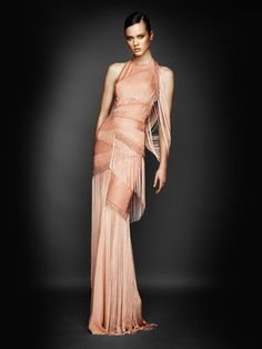 Atelier Versace Fall 2010 -- I am reminded of the 20's Flapper Girls with this one.