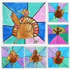 Thanksgiving Art For Middle School - Image Upload Services Thanksgiving Art Projects, Fall Art Projects, Classroom Art Projects, Kids Fall Crafts, Art Classroom, School Projects, Sisters Art, Soul Sisters, Turkey Art
