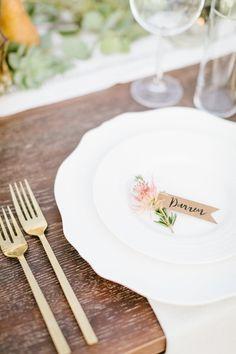 Sarah + Darren's Romantic Dos Pueblos Orchid Farm Wedding on PartySlate Eucalyptus Garland, Farm Wedding, Wedding Gold, Wedding Receptions, Event Design, Orchids, Wedding Decorations, Santa Barbara, Tableware