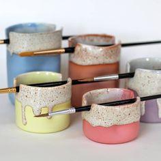 Ceramic Clay, Ceramic Pottery, Pottery Art, Clay Art Projects, Ceramics Projects, Ceramics Ideas, Polymer Clay Crafts, Diy Clay, Keramik Design