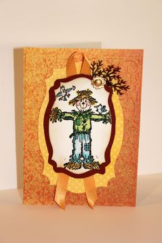 scarecrow colored w/ copics by Becky Joyce Hand Stamped Cards, Copics, Frame, Color, Home Decor, Picture Frame, Decoration Home, Room Decor, Colour