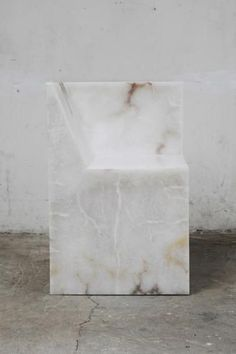 """""""For everybody's benefit I better just do my job quietly in a little corner like I do"""" - RICK OWENS - (Stunning Alabaster Chair by Rick Owens)"""