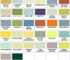 mid-century house colors