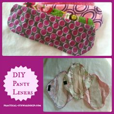 DIY Panty Liners Tutorial: Reduce waste, reduce chemicals in the home, and save money