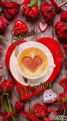 See the PicMix Good morning belonging to Wolfjen on PicMix. Joelle, Good Morning Flowers, Coffee Love, Cute Love, Ethnic Recipes, Food, Good Morning, Meals