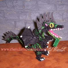 Blackwatch Dragon Miniature by ChenilleMacabre on Etsy! Buy him today!