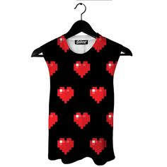 Pixel Hearts Muscle Tank by Beloved Shirts