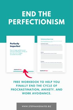How to Overcome Perfectionism and Procrastination In Your Business Growing Your Business, Online Business, Im Not Perfect, Success, Script, Worksheets, Create, Mindset, Purpose